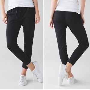 Lululemon Jet Crop track pants. All black